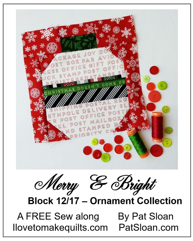 Pat Sloan Block 12 Merry and Bright button