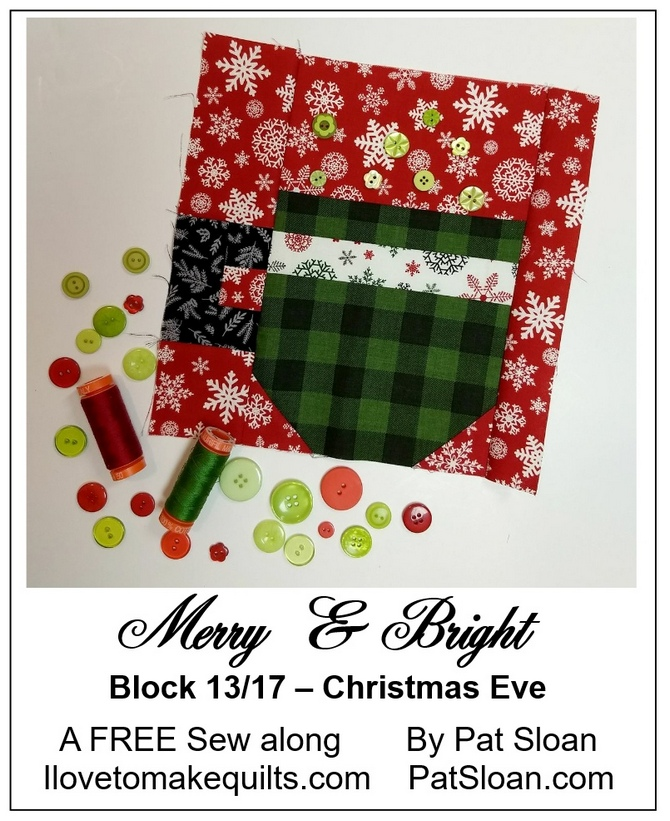 Pat Sloan Block 13 Merry and Bright button