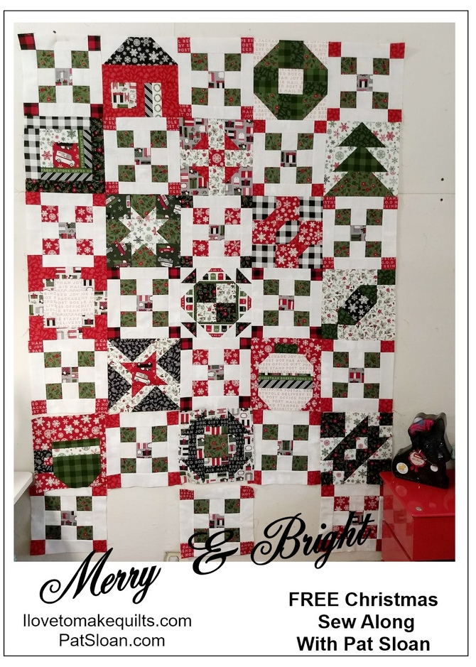 Pat Sloan Block 1 to 15 Merry and Bright button