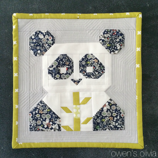 Pandamonium quilt owen's olivia fat quarter shop 1