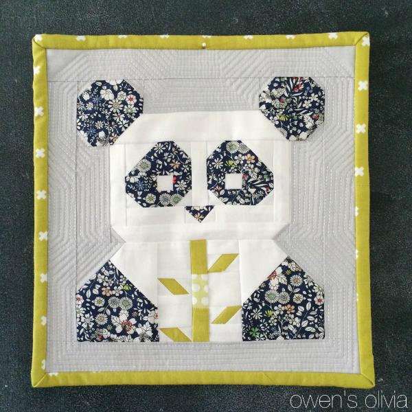 Pandamonium quilt owen's olivia fat quarter shop 1