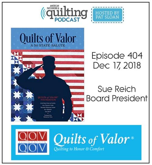 American Patchwork Quilting Pocast episode 404 Sue Reich