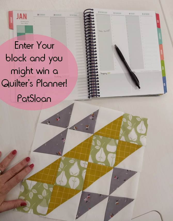 Pat Sloan Block 1 A Flower Bouquet giveaway