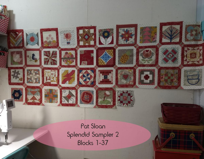 Pat Sloan Splendid Sampler 1 to 37 blocks pic 1