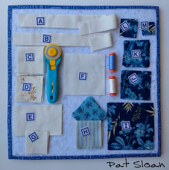 Pat Sloan Christmas figs blue block 10 pic 3