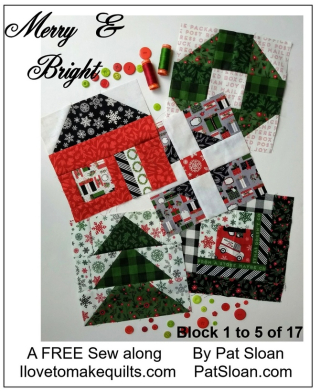 Pat Sloan Block 1 to 5 Merry and Bright button