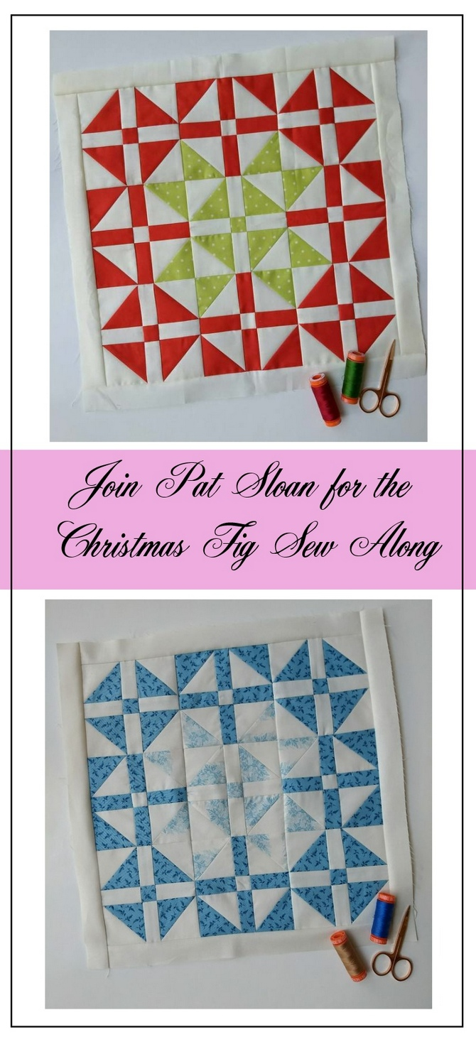 Pat Sloan Figtree Christmas sew along block 1