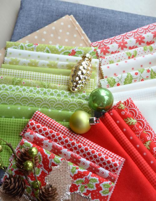 Christmas fig fabric