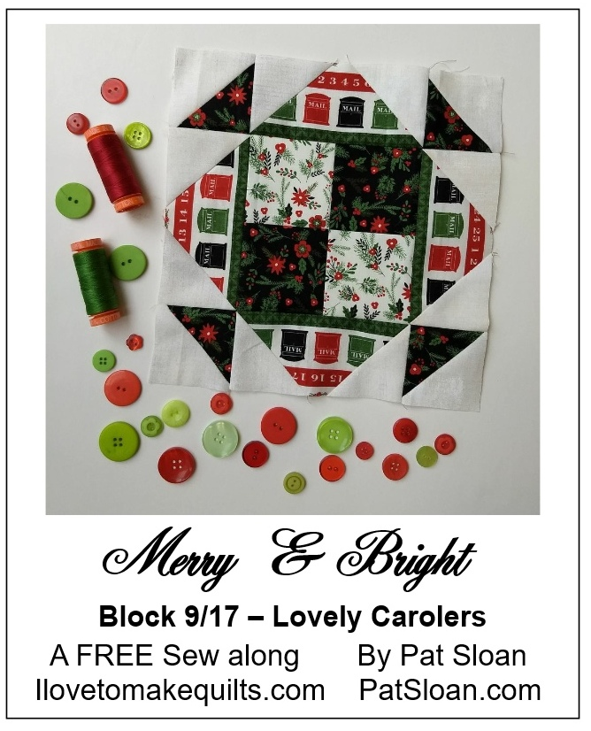 Pat Sloan Block 9 Merry and Bright button