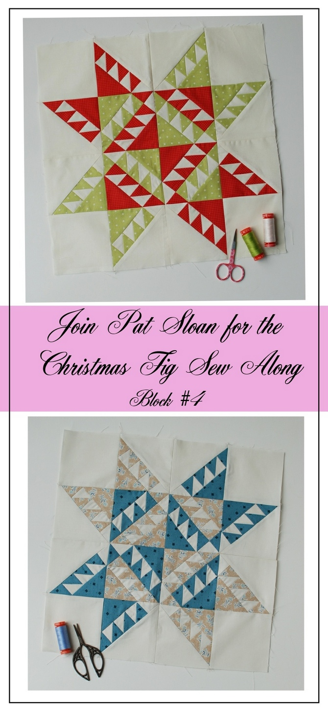 Pat Sloan Figtree Christmas sew along block 4