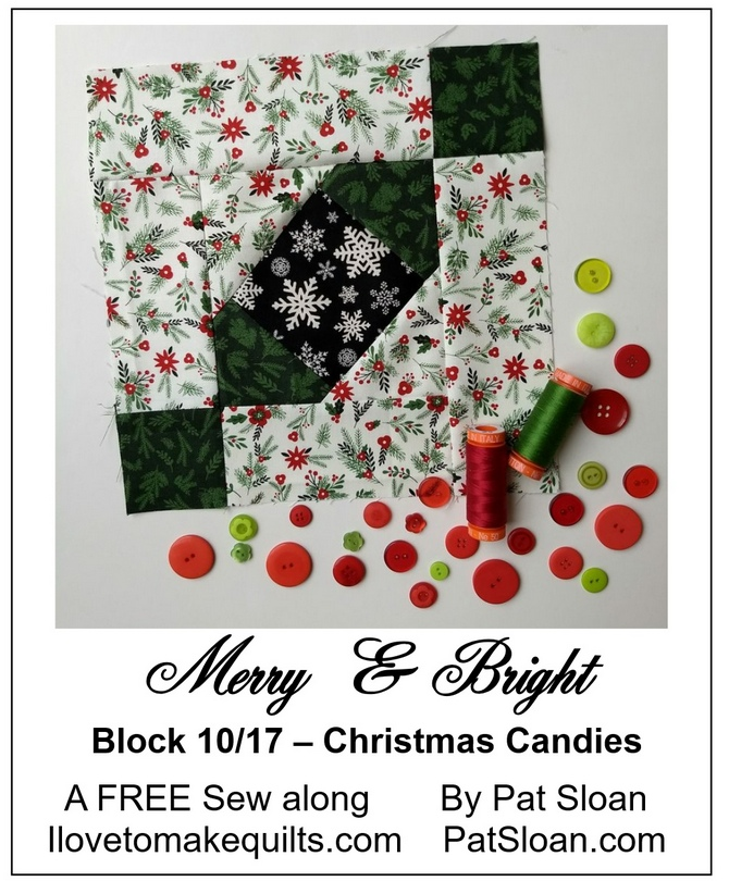 Pat Sloan Block 10 Merry and Bright button