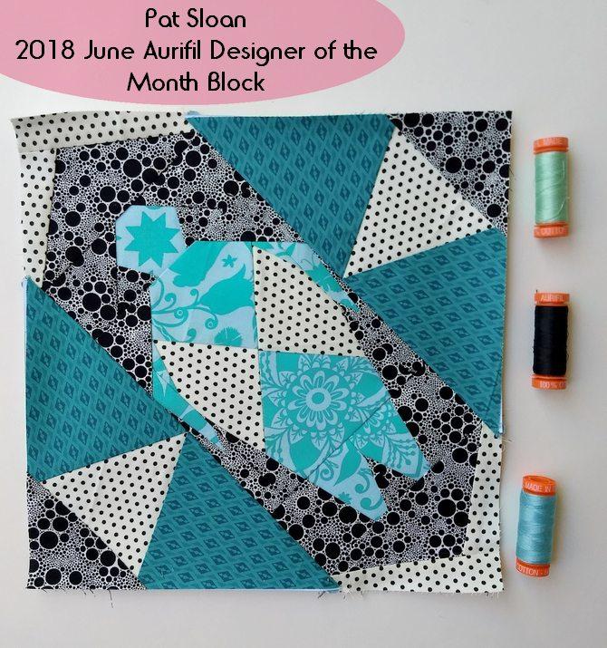 Pat sloan June 2018 Aurifil DOM block