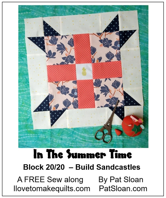 Pat Sloan Block 20 In the Summer Time banner