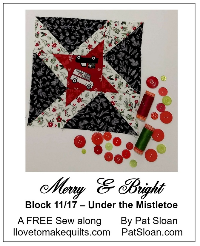 Pat Sloan Block 11 Merry and Bright button