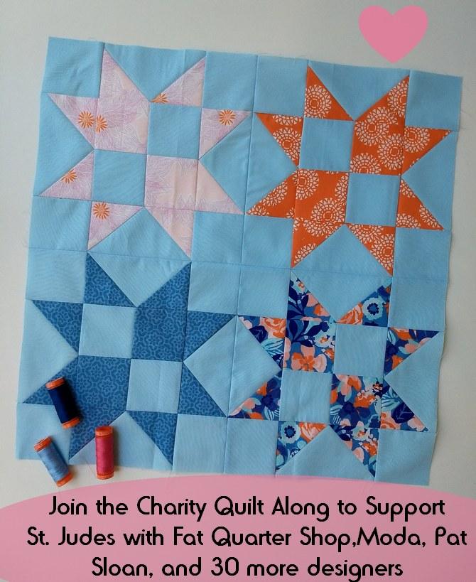 Pat sloan charity block 6 button