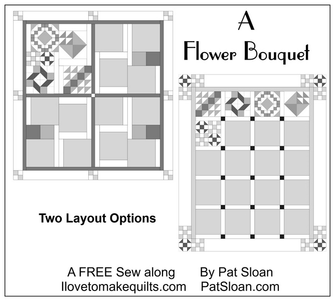 Pat Sloan Layout button Flower Bouquet