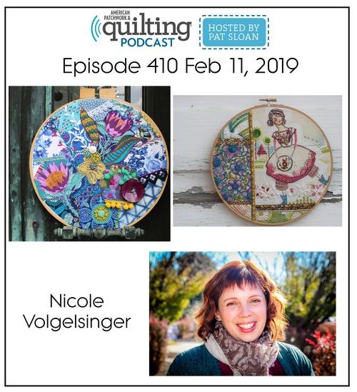 American Patchwork Quilting Pocast episode 410 Nicole Volgelsinger