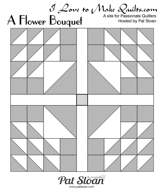 Pat Sloan Block 7 A Flower Bouquet bonus layout