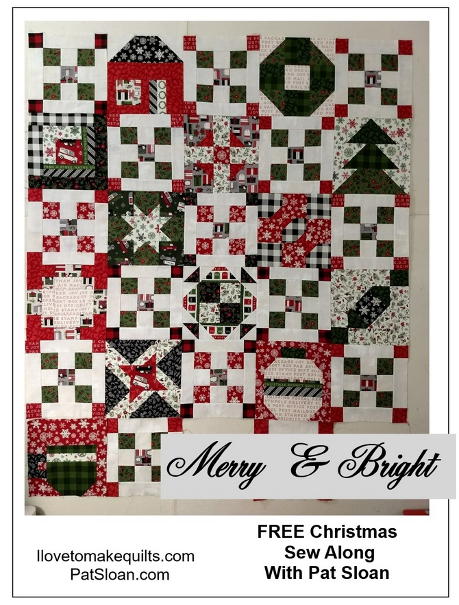 Pat Sloan Block 1 to 13 Merry and Bright button