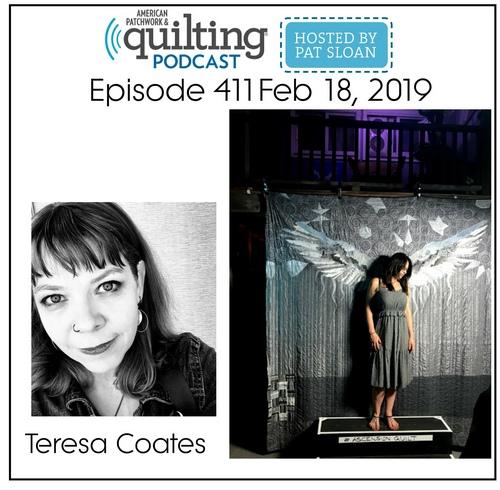 American Patchwork Quilting Pocast episode 411 Teresa Coates