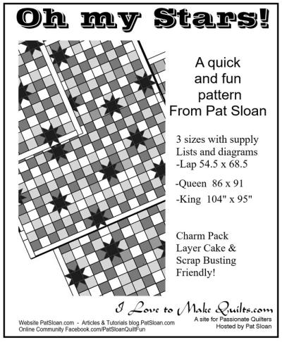 Pat Sloan oh my stars multi quilt pattern