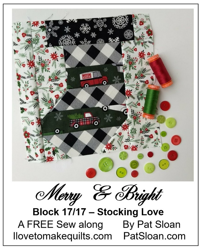 Pat Sloan Block 17 Merry and Bright button