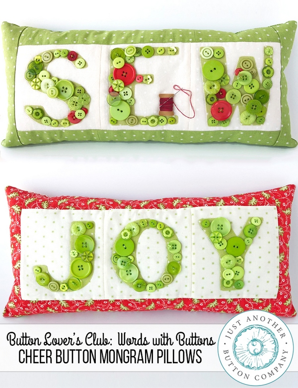 JABC-Words-with-Buttons-Cheer-Button-Monogram-Pillows-www.justanotherbuttoncompany.com_