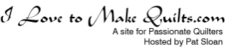 I love to make quilts logo