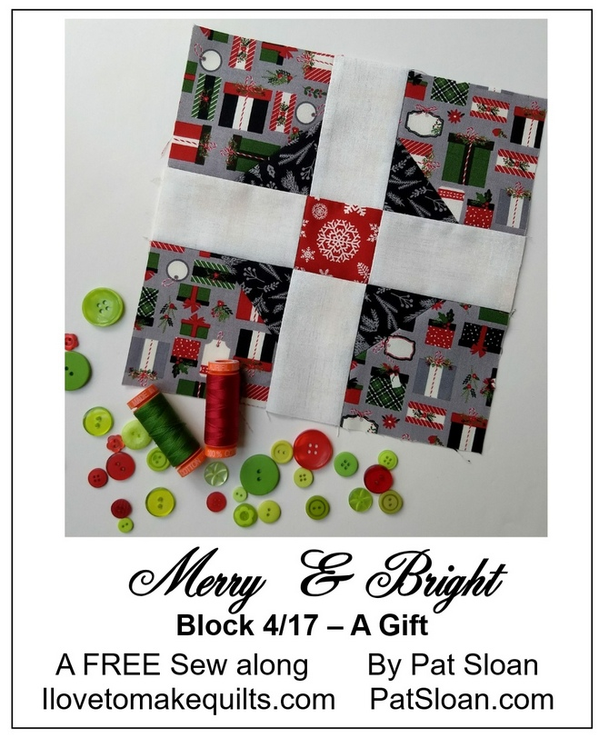 Pat Sloan Block 4 Merry and Bright button