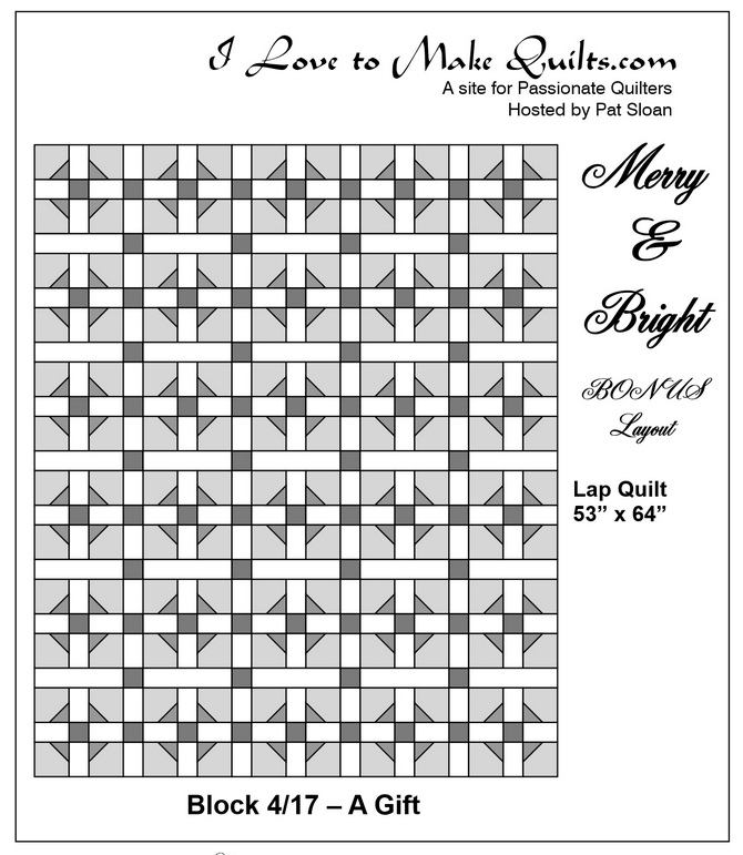 Pat Sloan BONUS Block 4 Merry and Bright