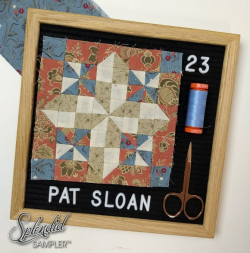 Pat Sloan Splendid Sampler 2 block 23 Joyce beams