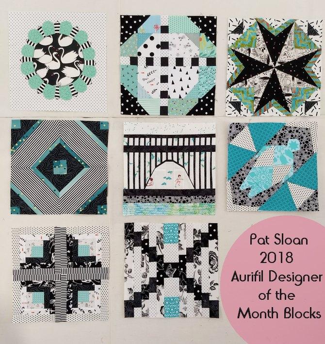 Pat Sloan Aurifl DOM 2018 Block 1 to 8
