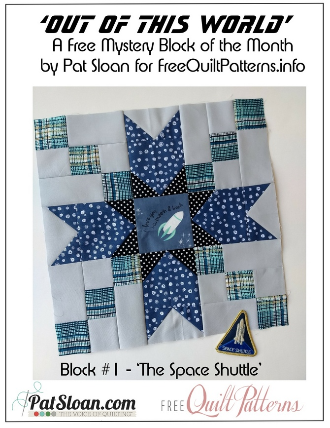 Pat Sloan Out of This World block 1 button