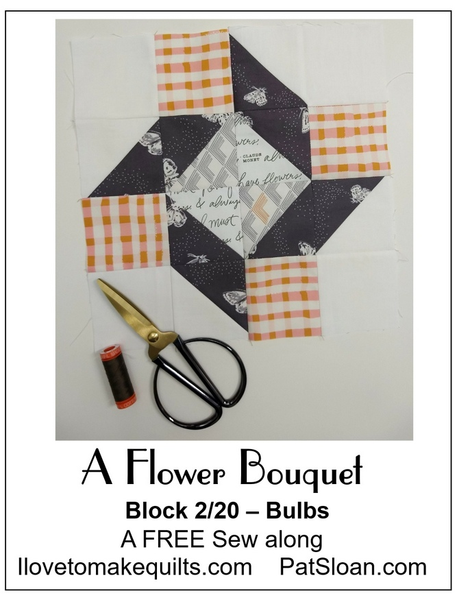 Pat Sloan Block 2 A Flower Bouquet banner