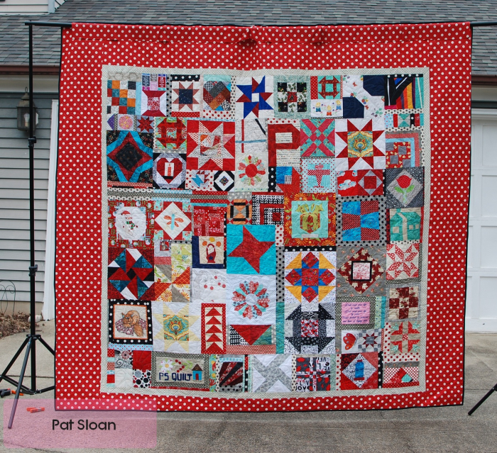 Pat Sloan Birthday Quilt Done Jan 2019 pic back
