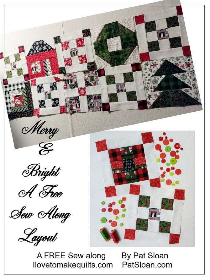 Pat Sloan Merry and Bright layout button 4