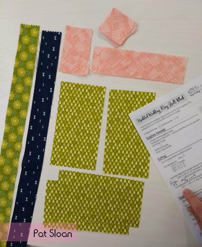 Pat Sloan 2019 Aurifil Block 1 layout