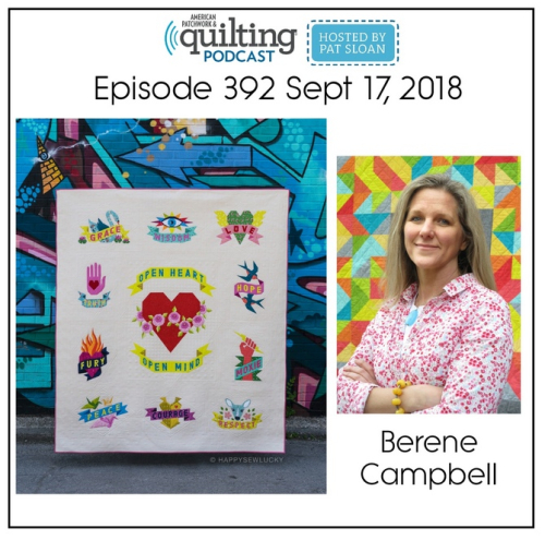 American Patchwork Quilting Pocast episode 392 Berene Campbell