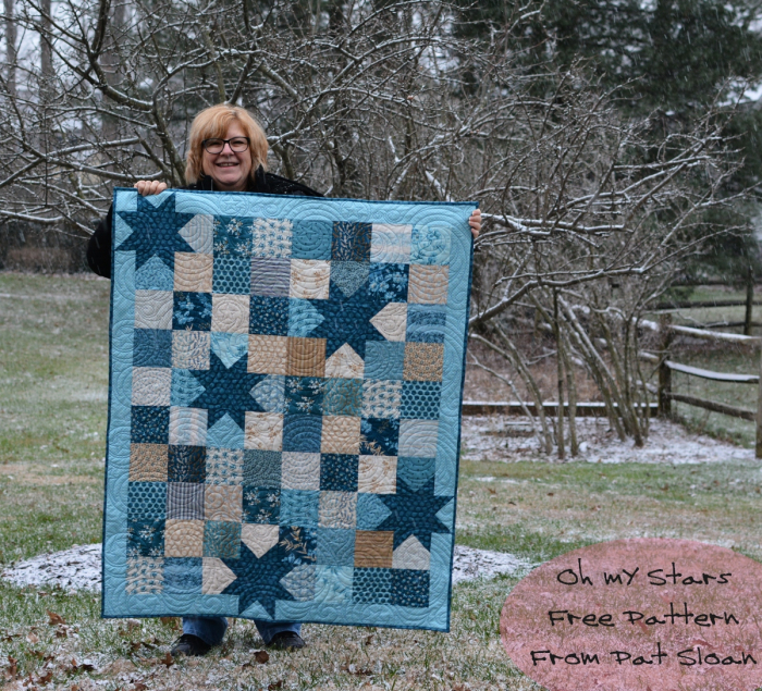 Oh My Stars Free Quilt Pattern By Pat Sloan S I