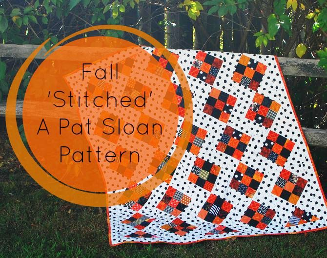 Pat sloan fall stitched