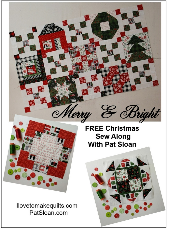 Pat Sloan Block 9 Merry and Bright button2