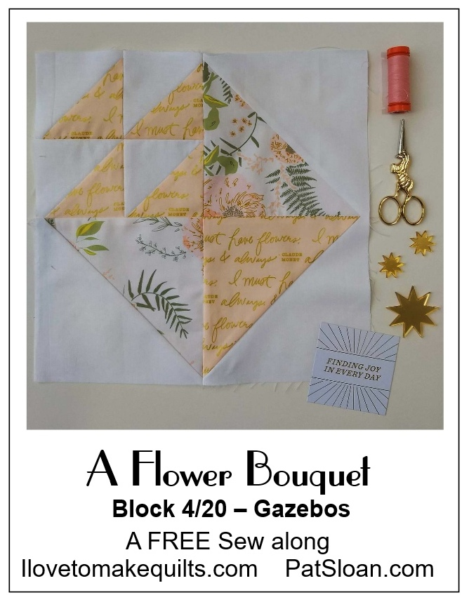 Pat Sloan Block 4 A Flower Bouquet banner