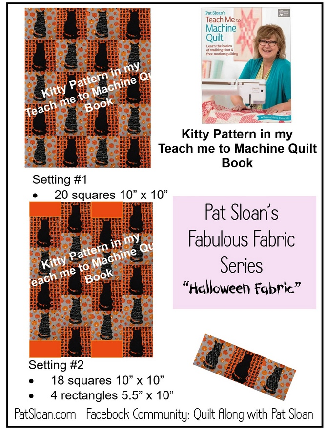 Pat sloan kitty quilt layout