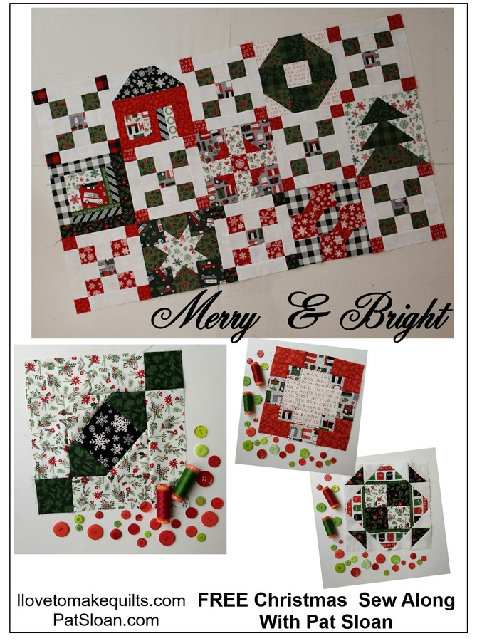 Pat Sloan Block 10 Merry and Bright button 2