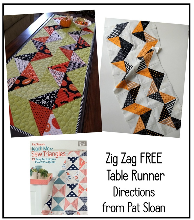 Pat Sloan Zig Zag Table runner Direction button