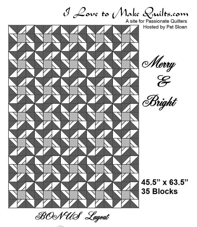 Pat Sloan Block 11 Merry and Bright layout