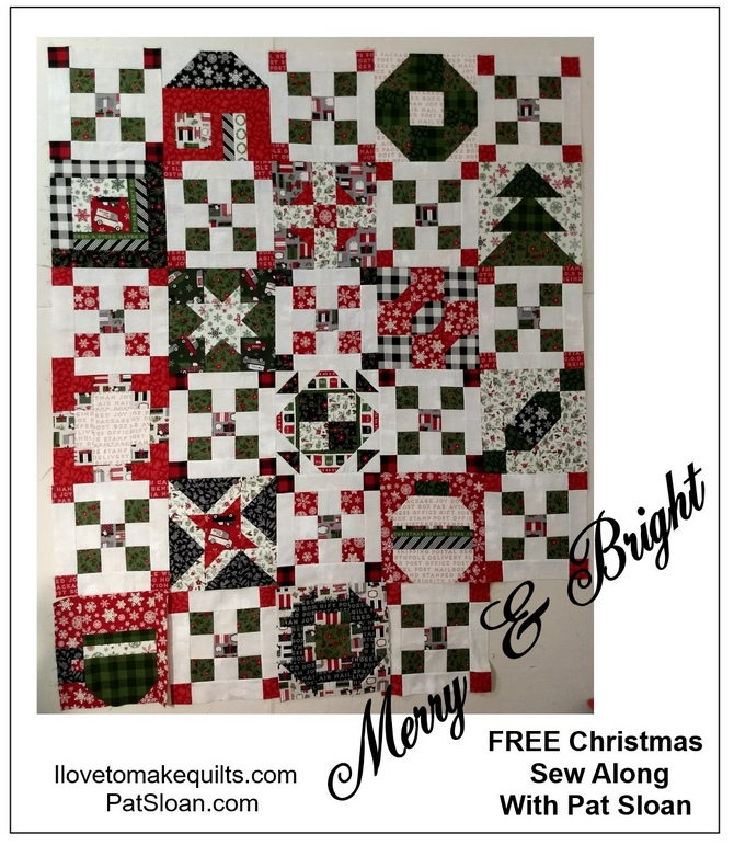 Pat Sloan Block 1 to 14 Merry and Bright button