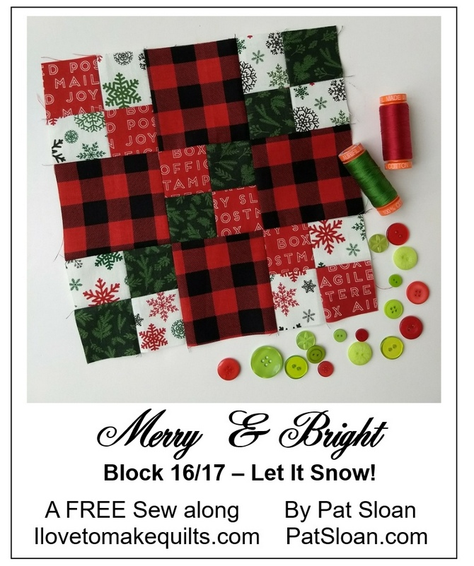Pat Sloan Block 16 Merry and Bright button