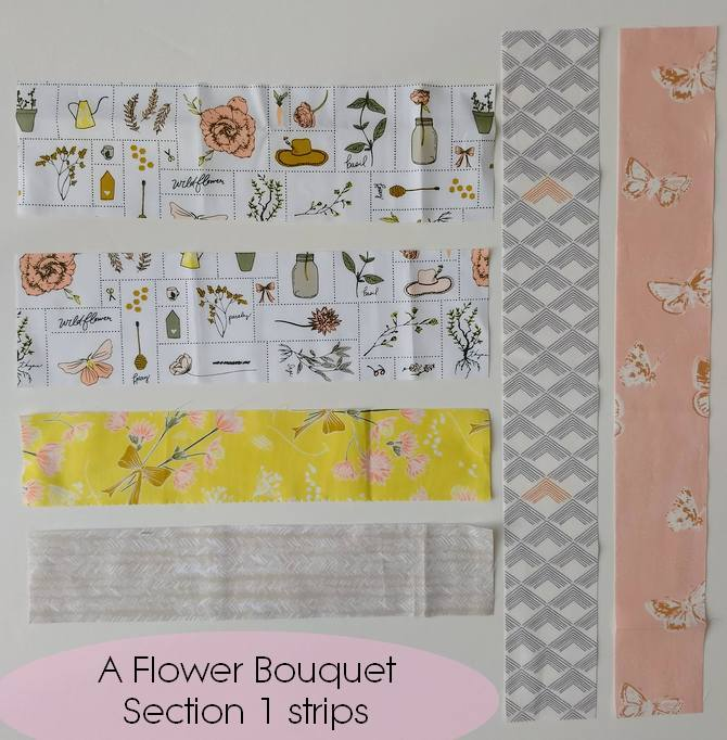Pat Sloan flower bouquet layout section 1