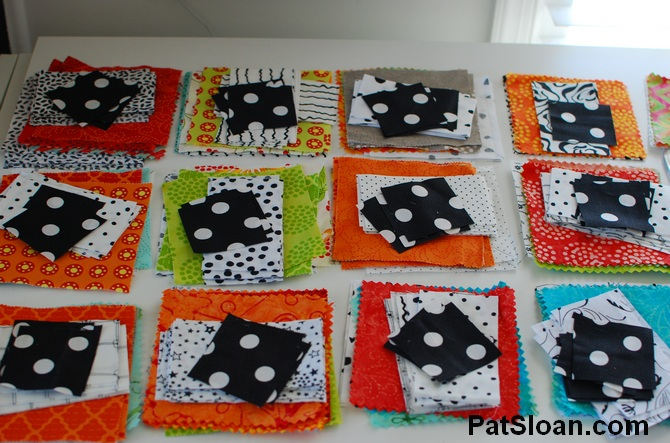 Pat sloan scrap busting sew along progress 3